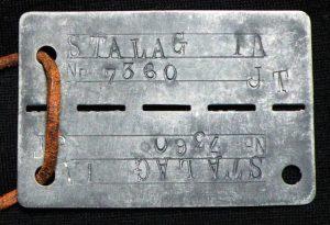 Piastrina con matricola prigioniero STALAG I-A